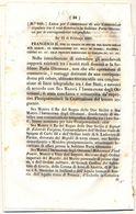 1860 DECRETO CONVENZIONE TELEGRAFICA CON L'IMPERO OTTOMANO - Décrets & Lois