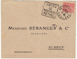 ESC Daguin Rethel 1929 - Marcophilie (Lettres)