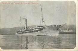 GENOVA - Piroscafo In Rotta Per L'America  - En état - Piroscafi
