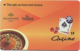 Paradise Hotel Busan Corée Du Sud : Casino (1F = RDC) - Cartas De Hotels