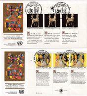 UN Vienna 1991, Complete Set On 2 FDC's. Cv 7,50 Euro - FDC