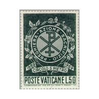 Timbre N° 495 Neuf ** - Centenaire De La Fondation Du Cercle Saint-Pierre - Emblème Du Cercle - Filigrane B. - Vatican
