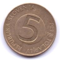SLOVENIA 1998: 5 Tolarjev, KM 6 - Slovenia