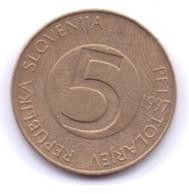 SLOVENIA 1997: 5 Tolarjev, KM 6 - Slovenië