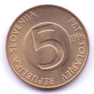 SLOVENIA 1996: 5 Tolarjev, KM 6 - Slovenië