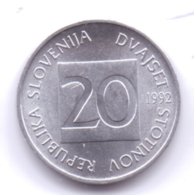 SLOVENIA 1992: 20 Stotinov, KM 8 - Slovenia