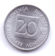 SLOVENIA 1992: 20 Stotinov, KM 8 - Slovenië