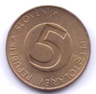 SLOVENIA 1992: 5 Tolarjev, KM 6 - Slovenië