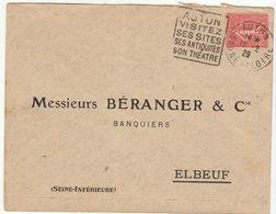 ESC Daguin Autun 1929 - Marcophilie (Lettres)