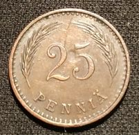 FINLANDE - FINLAND - 25 PENNIA 1942 - KM 25a - Finnland