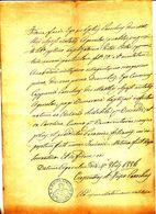 1886 AGEROLA  DOCUMENTO PARROCCHIALE CON BEL TIMBRO FIGURATO S MATTEO APOSTOLO - Vecchi Documenti