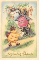 Pâques (Fantaisie) - Joyeuses Pâques - Poussin - Postes - Courrier - Pâques