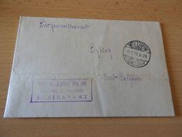 Alter Brief  Müllheim/Baden Vom 9.11.1911 - Announcements