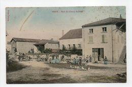 - CPA VERZÉ (71) - Place Du Champ De Foire (belle Animation) - Edition Noirard - - France