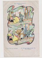 Cpa Fantaisie  / Qui La Fait Se L'attend  ( Jeune Homme Amoureux Se Faisant Botter Les Fesses ) - Künstlerkarten