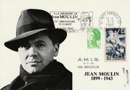 Jean Moulin  1983 Metz - Cartas Máxima