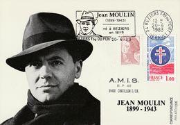 Jean Moulin  1983  Béziers - Cartas Máxima