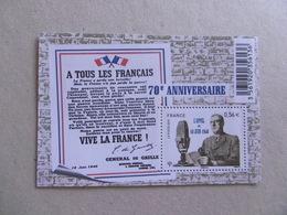 FRANCE 2010  F4493  NO YT  4493  * *  GENERAL DE GAULLE LOT DE 8 PIECES - Blocs & Feuillets