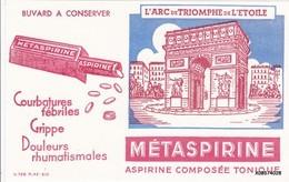 BUVARD METASPIRINE  ARC DE TRIOMPHE ROUGE  14X21 CmTB ETAT - Drogisterij En Apotheek