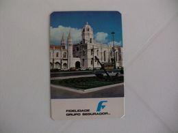 Insurance Assurances Seguros Fidelidade Lisboa Portugal Portuguese Pocket Calendar 1980 - Calendriers