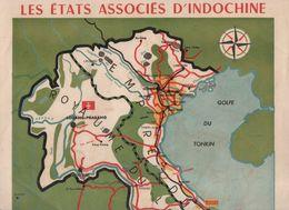 Carte LES ETATS ASSOCIES D'INDOCHINE   1949  (CAT 1819) - Geographical Maps
