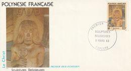 Polynésie Française  1982   Papeete  Le Christ Sculture - Polynésie Française