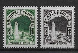 Comores Taxe N°1/2 - Neuf ** Sans Charnière - TB - Unused Stamps
