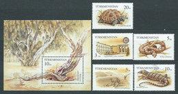 Turkmenistan - Correo Yvert 50/4+Hb 4 ** Mnh Fauna - Turkmenistan