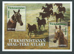 Turkmenistan - Hojas Yvert 30 ** Mnh Fauna Caballos - Turkmenistan