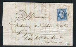 Rare Lettre De Luçon ( Vendée 22 Décembre 1862 ) Pour Castets Des Landes Avec Un N° 14B - Cachet GC 2116 - Marcophilie (Lettres)