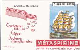 BUVARD METASPIRINE BATEAU CLIPPER   14X21 CmTB ETAT - Drogisterij En Apotheek