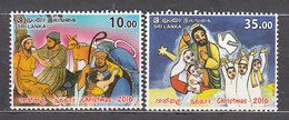 Sri-Lanka - Correo Yvert 2073/4 ** Mnh  Navidad - Sri Lanka (Ceylon) (1948-...)