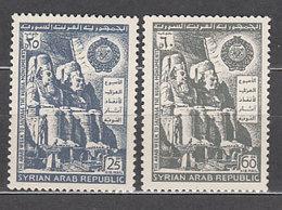 Siria - Aereo Yvert 283/4 ** Mnh Monumentos De Nubia - Siria