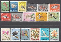 Singapur - Correo Yvert 52A/64 ** Mnh N� 57B Con Fijasellos Flores - Singapur (1959-...)