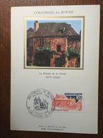 FRANCE 1982 CARTE MAXIMUM COLLONGES LA ROUGE - Cartas Máxima