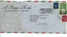 PORTUGAL LETTRE AVION POUR LA FRANCE 1952 - 1910-... Republic