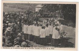 CPA 04 : THORAME-HAUTE - Bénédiction De La 1ère Pierre De La Nouvelle Chapelle De ND La Fleur (1936) - France