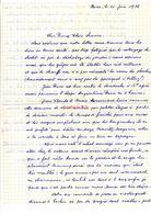 Lettre Manuscrite 1976 Paris Simone Pierre Toret Villaz Angouleme Hendaye Biarritz Bayonne Dax Espagne Cochin Draveil - Manuscritos