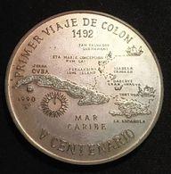 RARE - CUBA - 1 PESO 1990 - PRIMER VIAJE DE COLON 1492 - V CENTENARIO - KM 387 - Tirage 2000 Ex. - Cuba