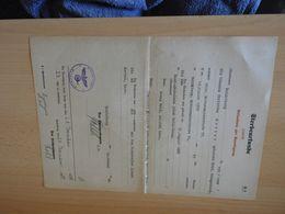 Altes Dokument  Sterbeurkunde Heidelberg 1939 - Décrets & Lois