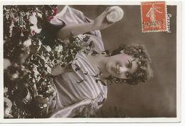 CARTE POSTALE 1911 AVEC TIMBRE AU TYPE SEMEUSE ET CACHET GARE DES HOPITAUX JOUGNE DOUBS - Marcophilie (Lettres)