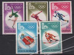 JO80-H6 - ROUMANIE  N° 3241/45 Obl. Jeux Olympiques Lake Placid 1980 - 1948-.... Republiken