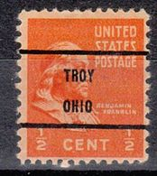 USA Precancel Vorausentwertung Preo, Locals Ohio, Troy L-1 TS - Estados Unidos