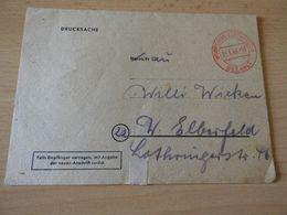 Alter Brief Der Barmer Ersatzkasse Wuppertal 1946 - Announcements