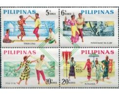 Ref. 312872 * MNH * - PHILIPPINES. 1963. TRADITIONAL DANCES . DANZAS TRADICIONALES - Filipinas