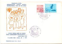JUGOSLAVIJA INTERNATIONAL YEAR OF CHILD COVER  1979  (GIUGN200280) - FDC