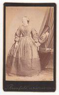 0512 CDV Photo: T. Cranfield, Dublin - Portrait, Feine ältere Dame Mit Spiegel, Frau Femme Woman - Old (before 1900)