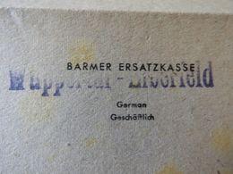 Alter Brief Sauerländischer Gebiers-Verein Abt.Wuppertal.1945 - Organisations