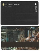InterContinental Sao Paulo, Brazil, Used Magnetic Hotel Room Key Card # Interc-50 - Cartas De Hotels