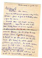 Lettre Manuscrite 1980 Voisins Papa Maman Famille Villaz Ozerailles Annecy Chambery Aix Les Bains - Manuscritos